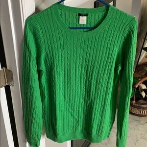 J. Crew cable sweater, M